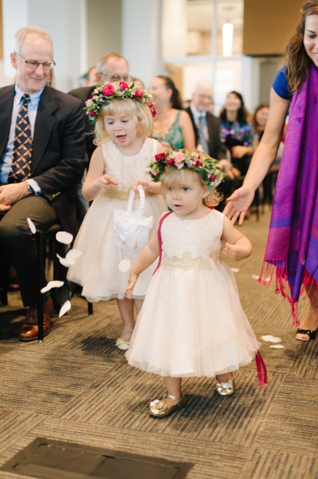 cute little flower girls with flower halos