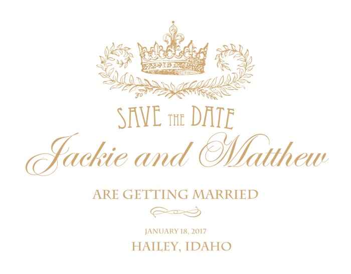 Print: Royal Crown Free Printable Save the Date Cards
