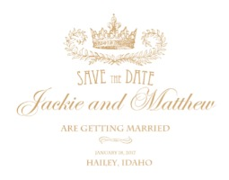 Royal Crown Free Printable Save the Date Cards