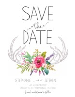 Antlers Free Printable Save the Date Card