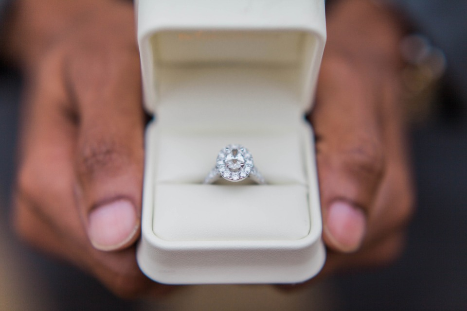 Sparkly engagement ring