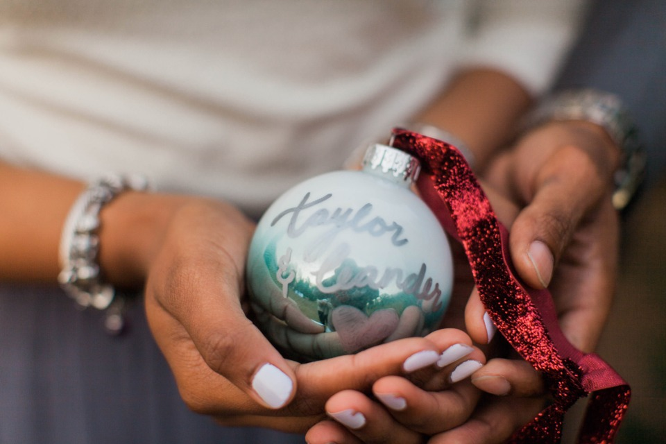 Keepsake ornament to remember your engagement