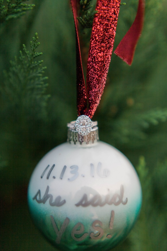 Surprise engagement ornament