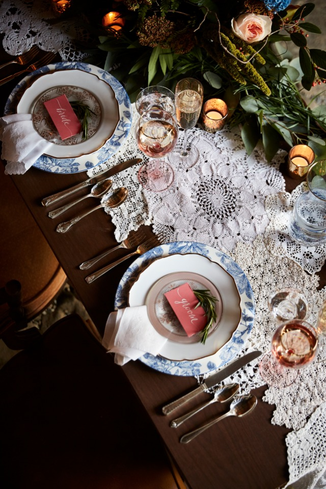 heirloom rural chic table decor