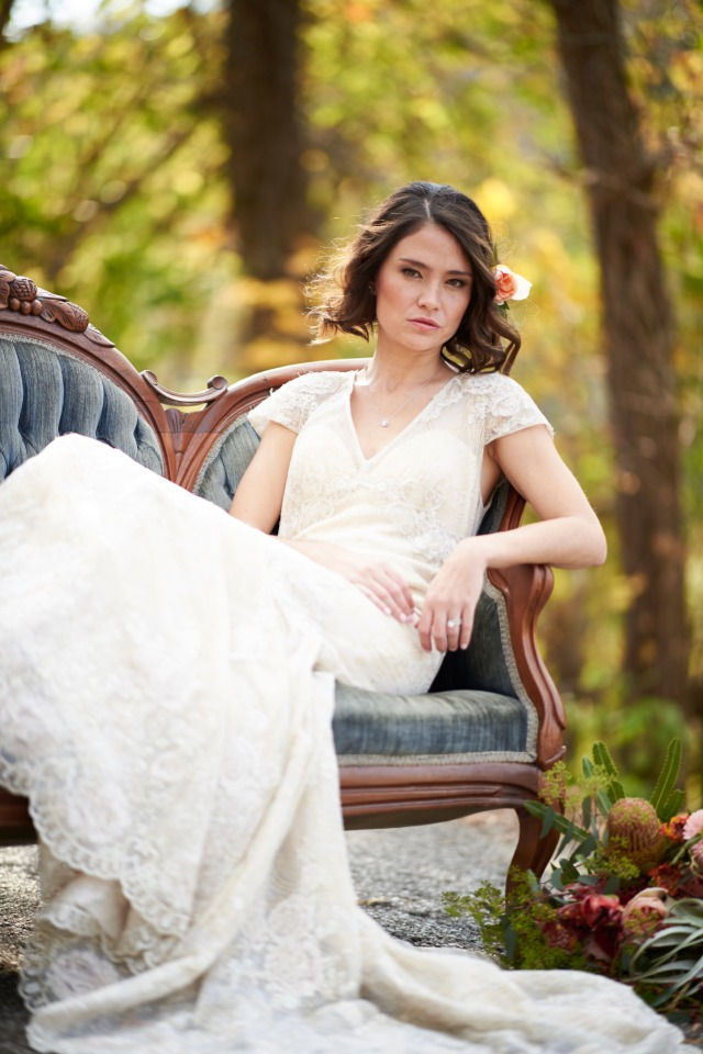 romantic bridal portrait idea