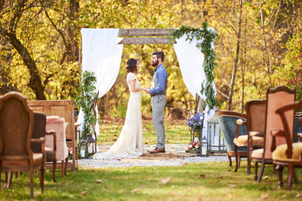 outdoor fall wedding idea