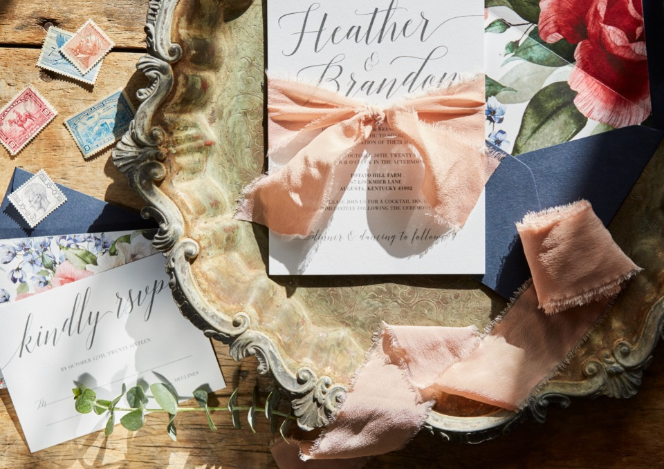Lisa Cron Design wedding stationery