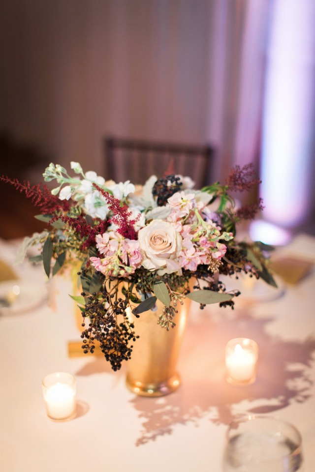 Pretty florals for your centerpiece