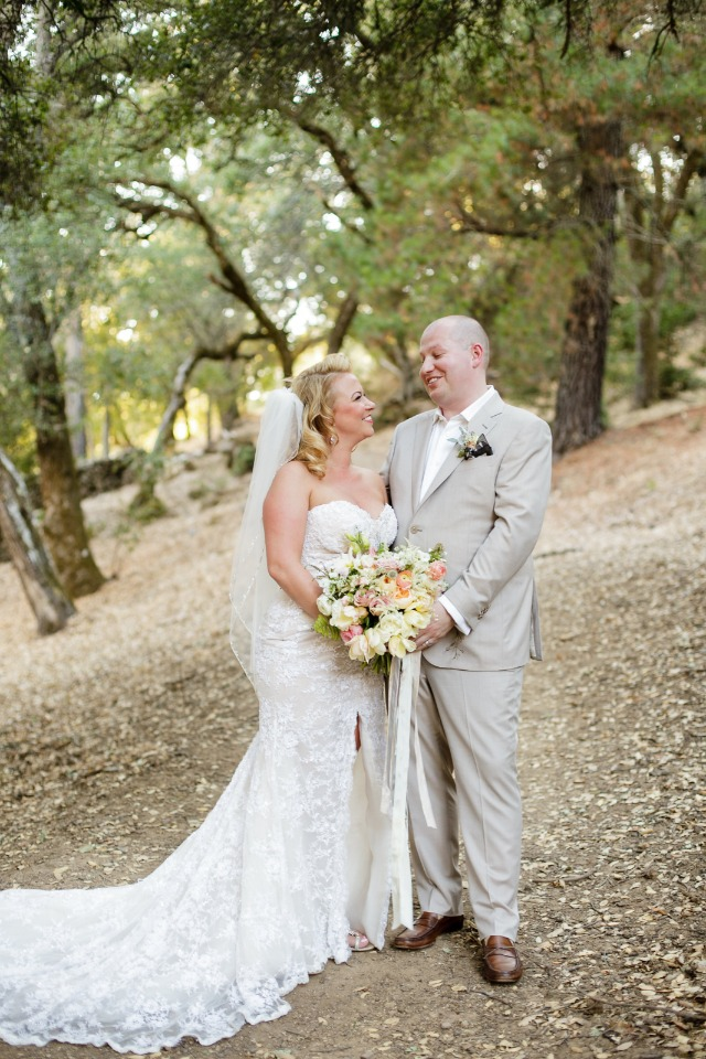 sweet bride and groom photo