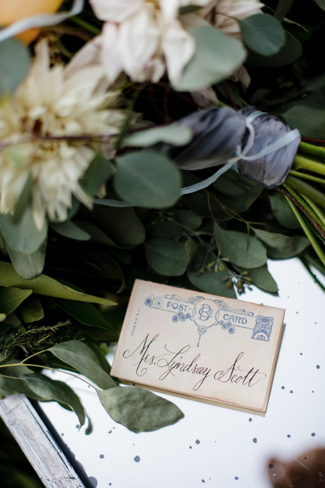 art nouveau wedding escort cards
