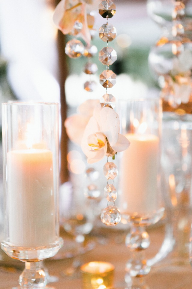 candle lit glam wedding