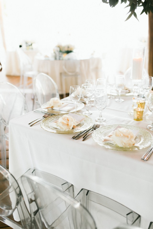 white and blush wedding table
