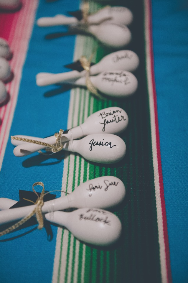 Maracas wedding favor
