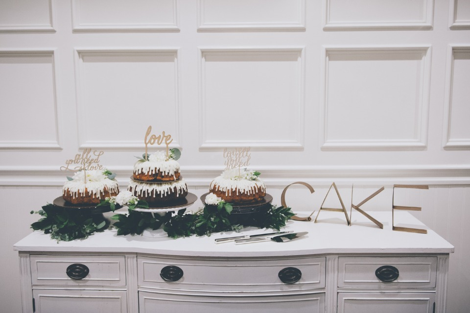 Modern chic cake table