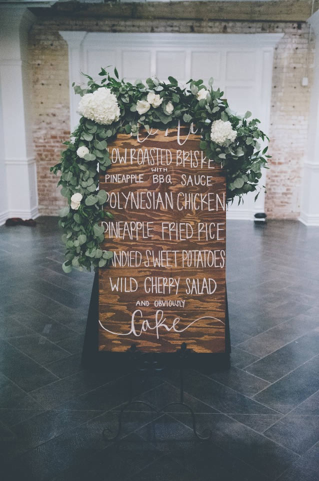 Giant floral filled menu