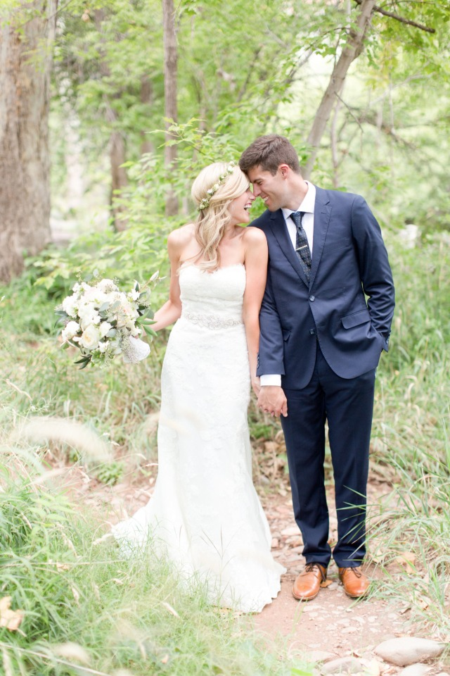 cute and happy wedding couple