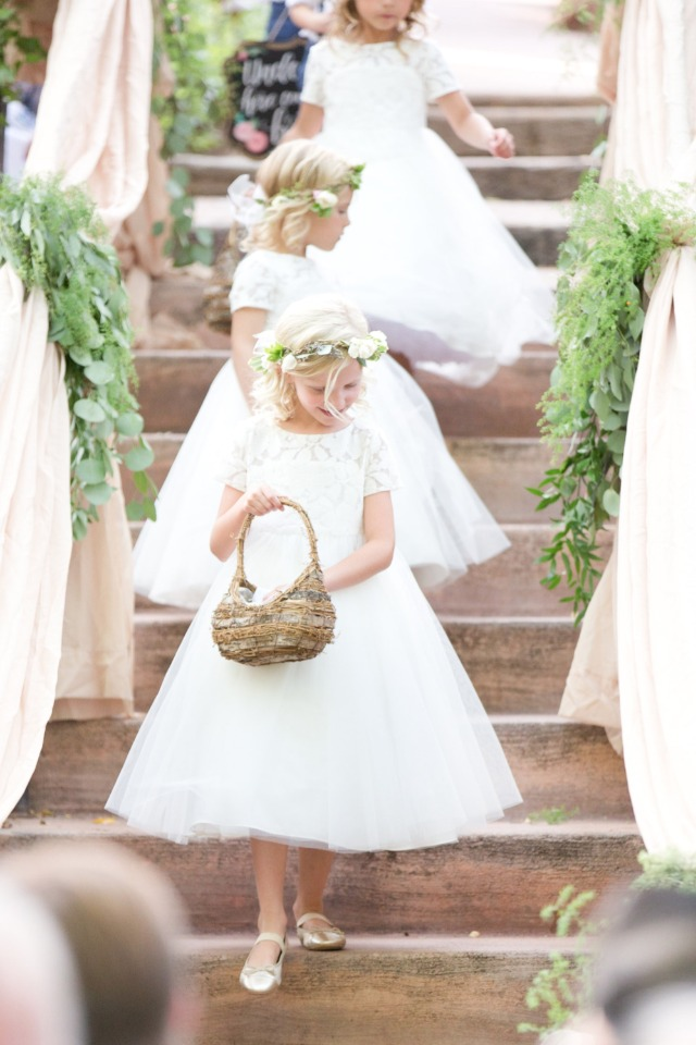 here comes the flower girls