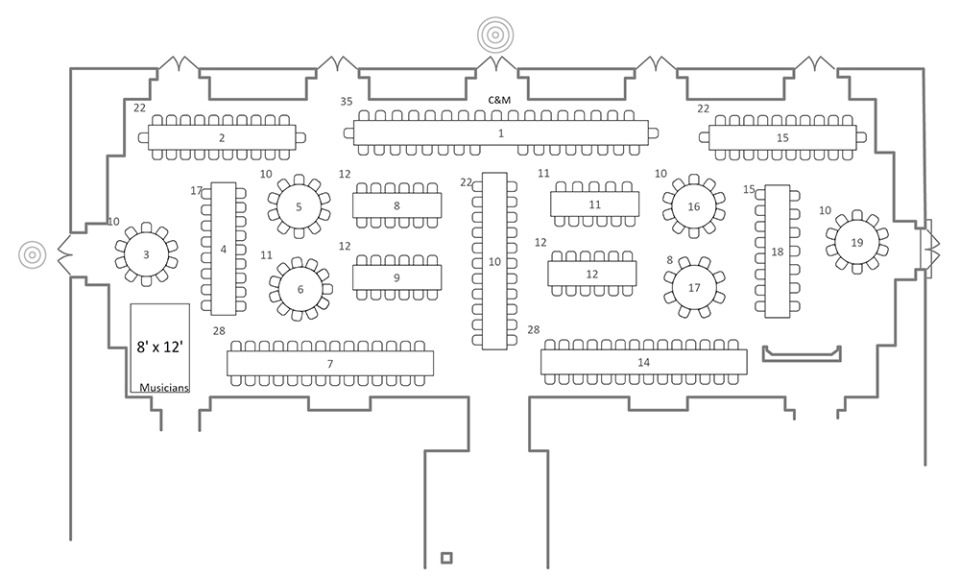 Allseated free and easy floorplans seating charts and more for Wedding floor plan app