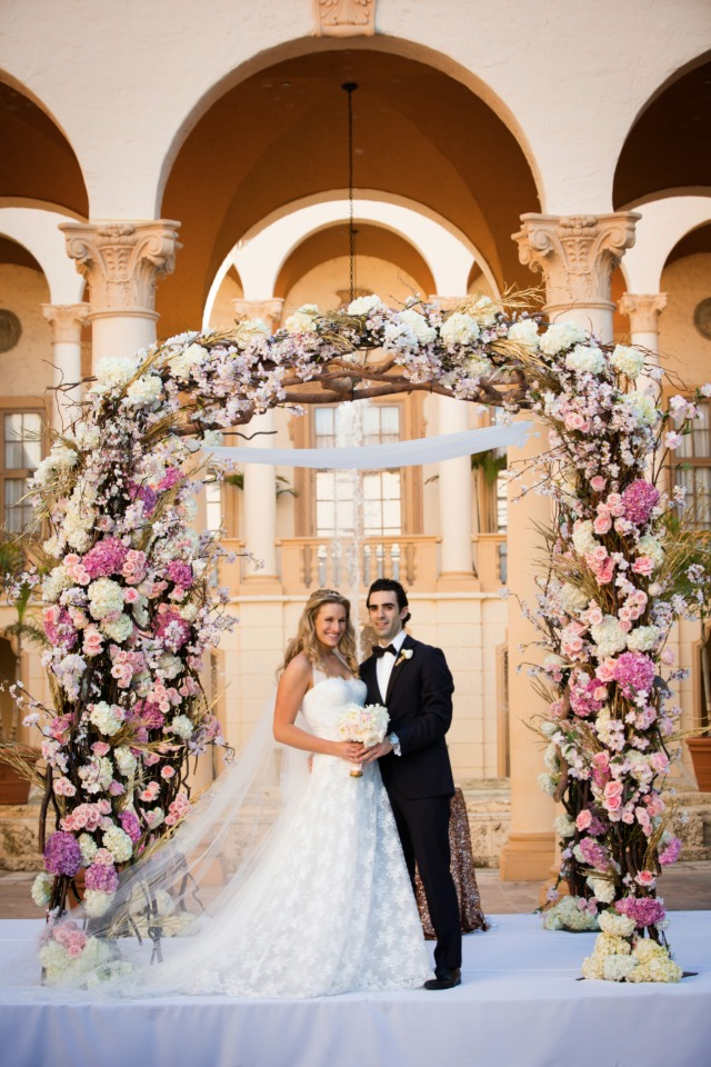 Oversized floral chuppah that will WOW your guests