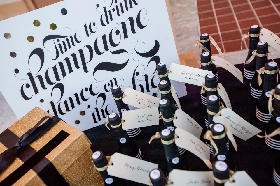 Custom champagne escort bottles