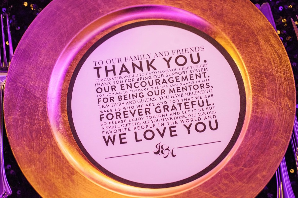 Thank you note for guests