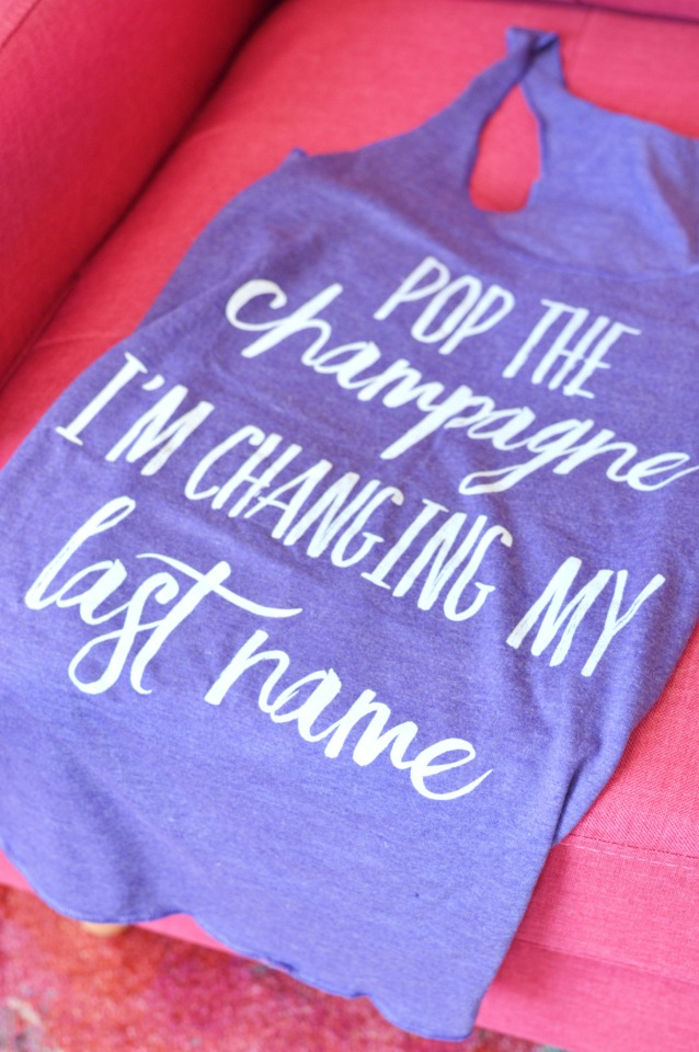 pop the champagne I'm changing my last name tank top