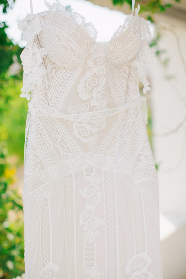 Beautifully detailed wedding dress