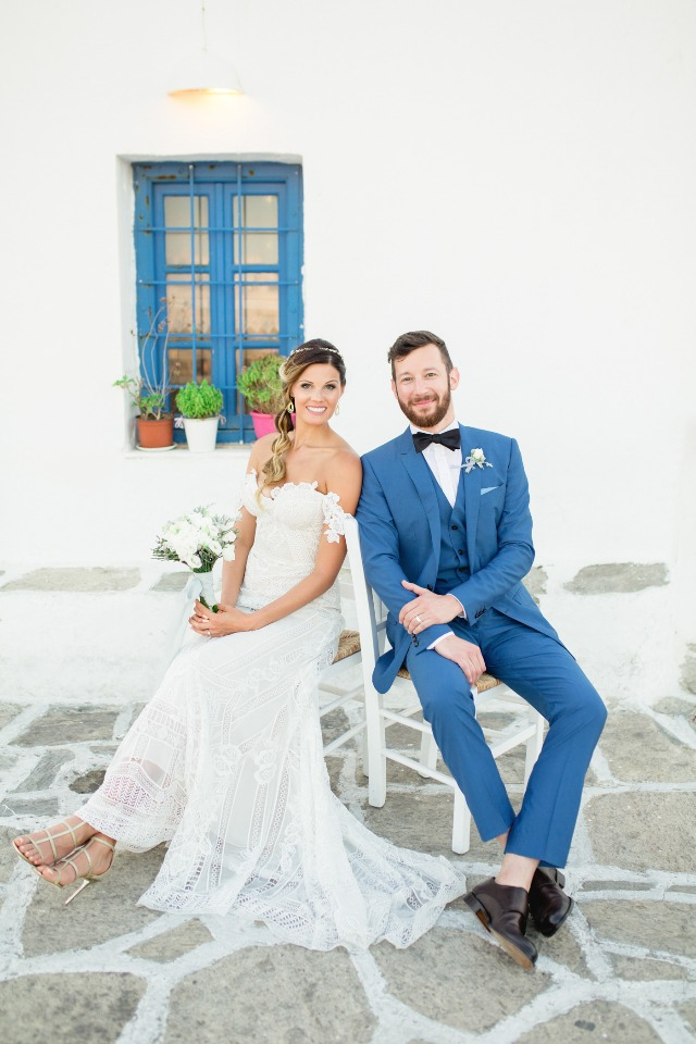 Stunning wedding in Greece