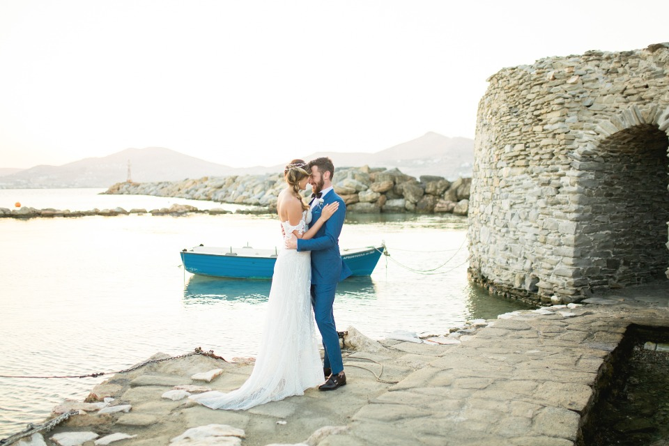 Romantic seaside wedding in Greece