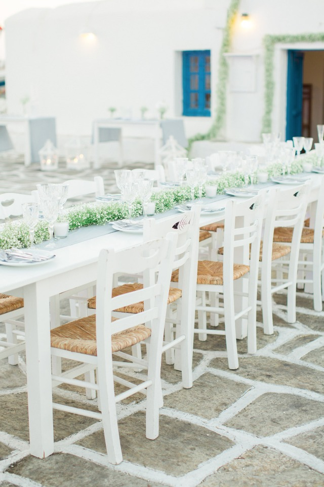 Love this white washed reception
