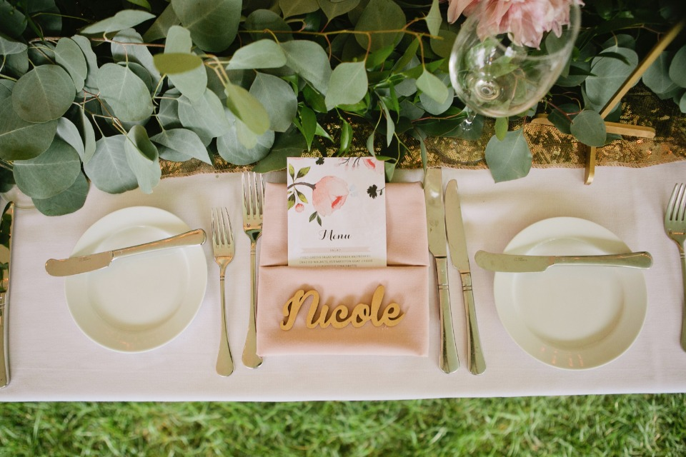 Wood place card signs