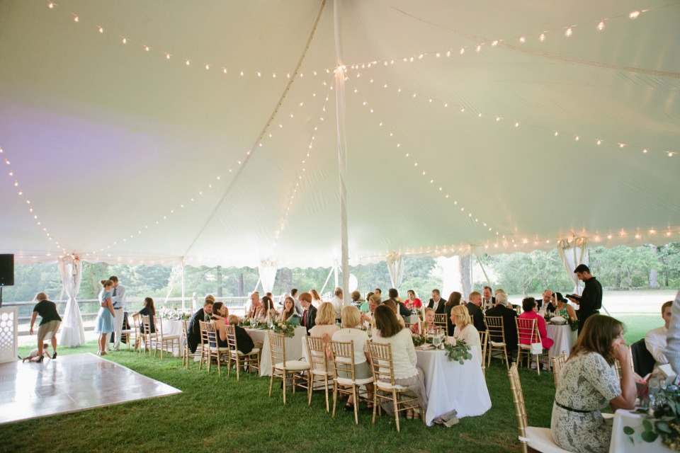 Love the lighting for this tent reception