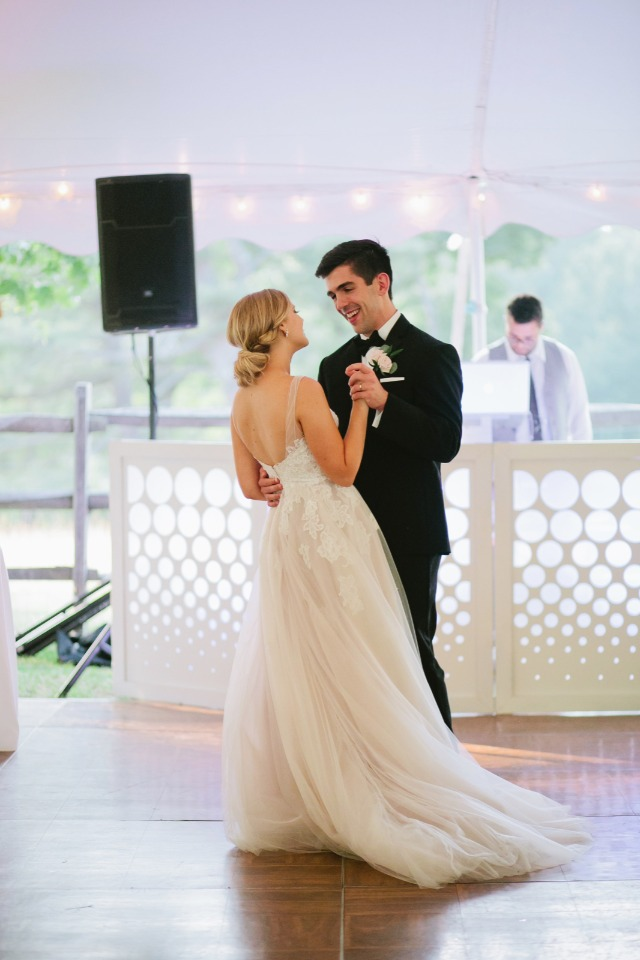 First dance for the newlyweds