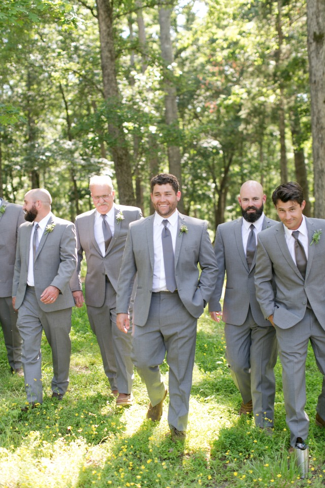groom and his men in all grey