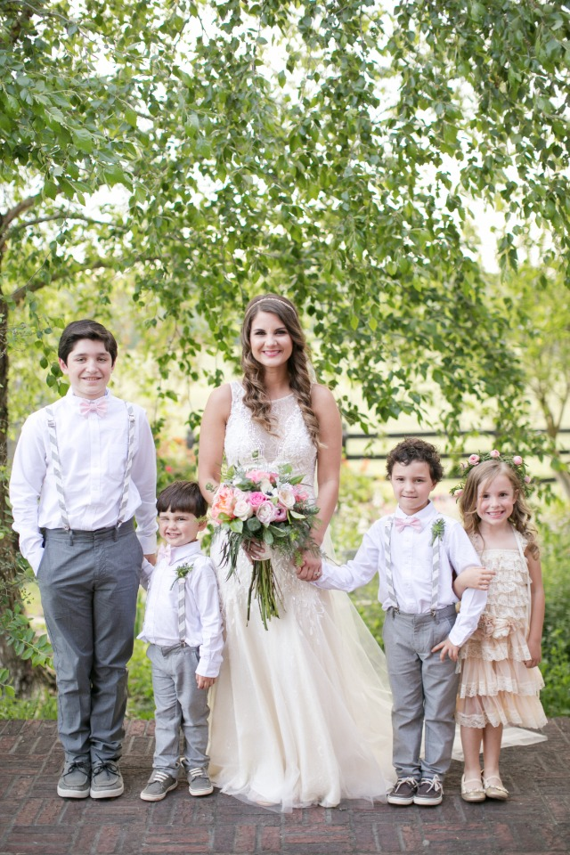 ring bearers and flower girl