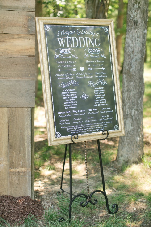 framed wedding program