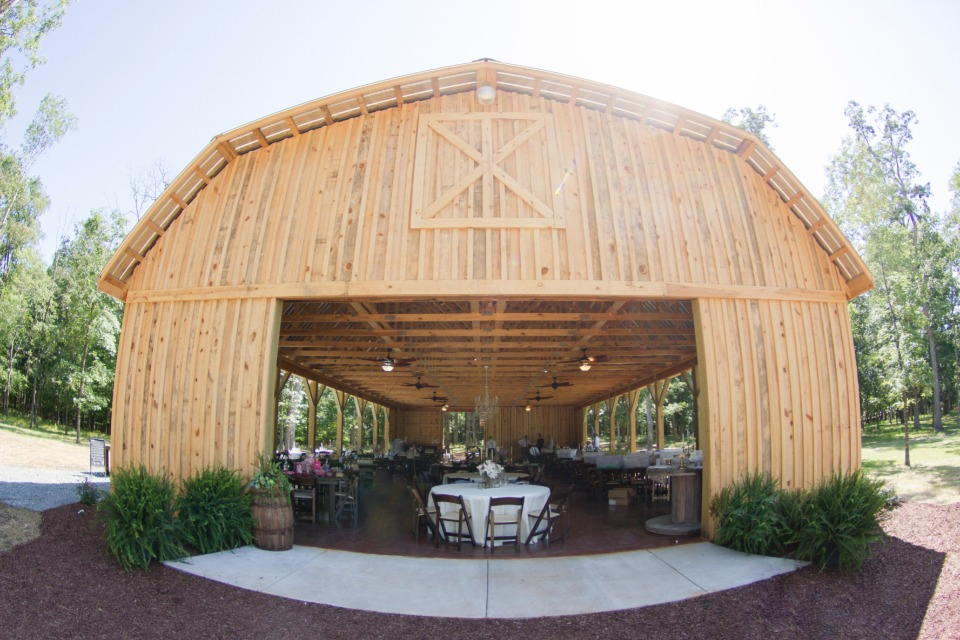 hand built wedding barn for the reception