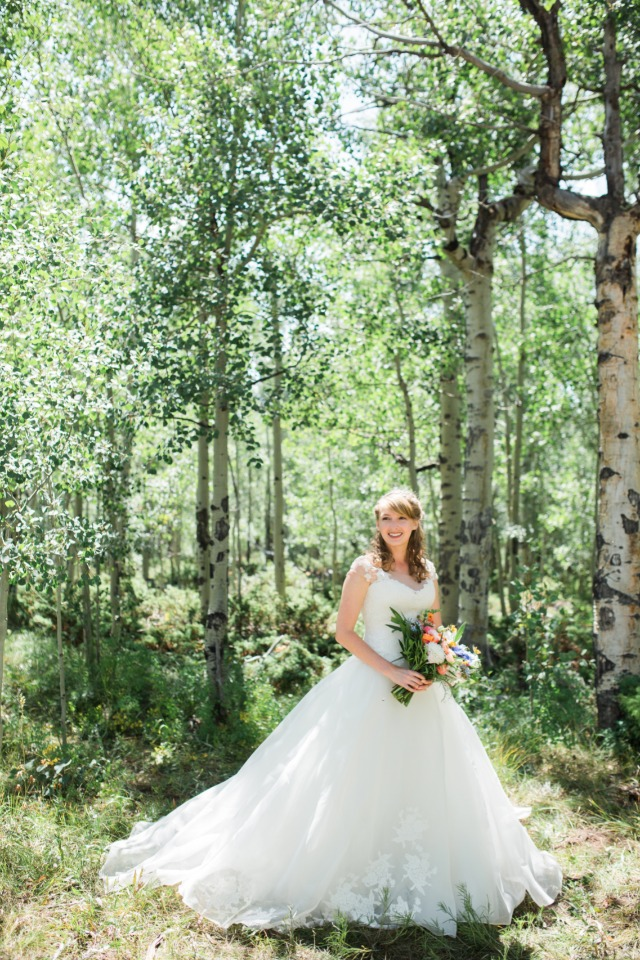 a bride amongst the trees