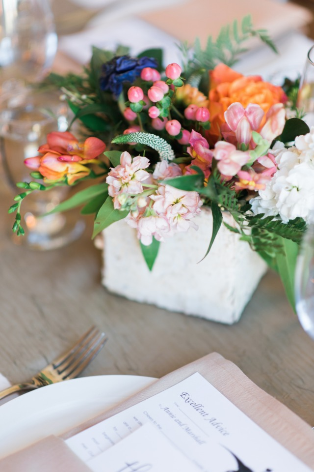bright and fun floral arrangement