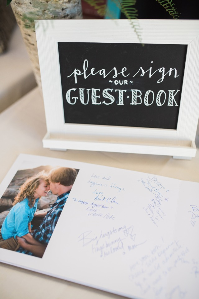 guest book and guest book sign
