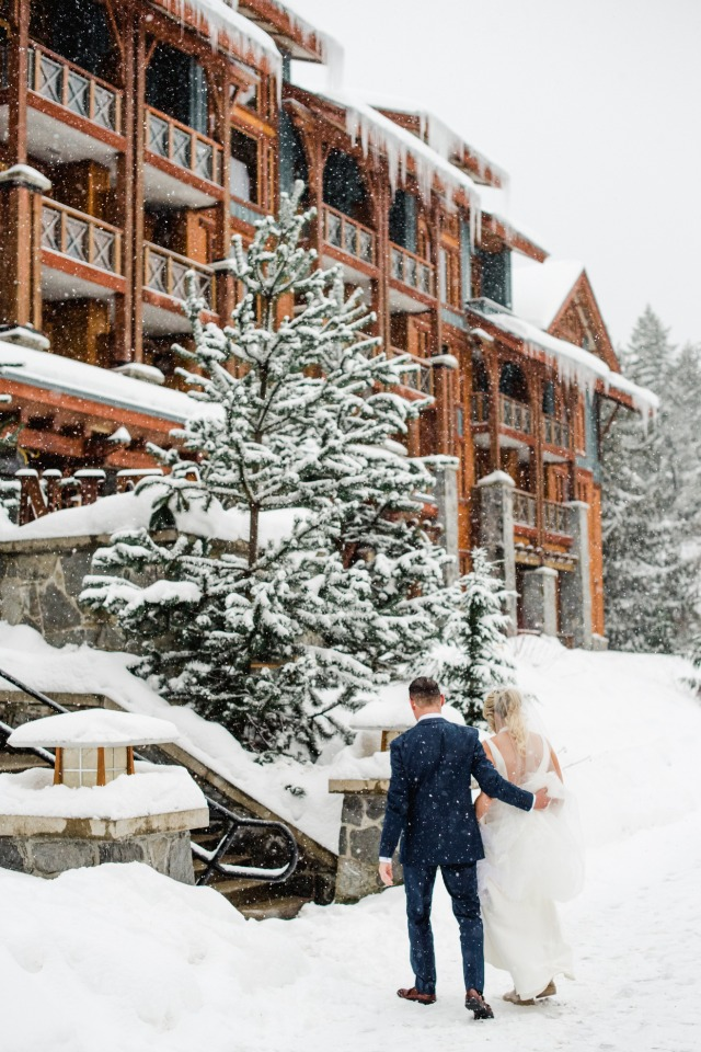 Beautiful winter wedding in Canada