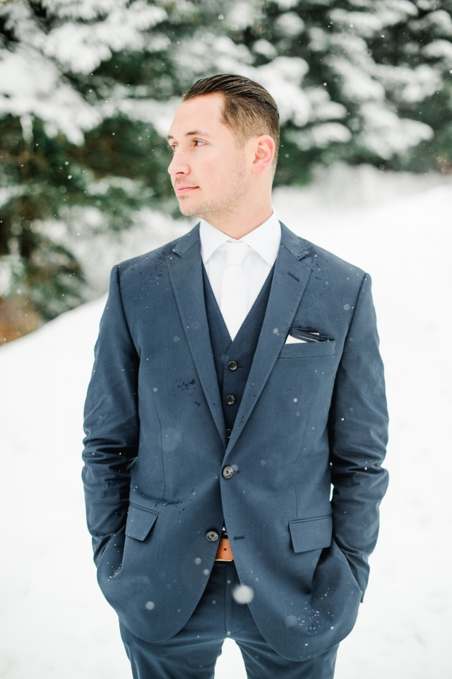 Three piece suit for the groom