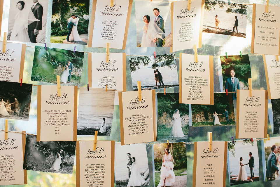 photo display and seating assignment display