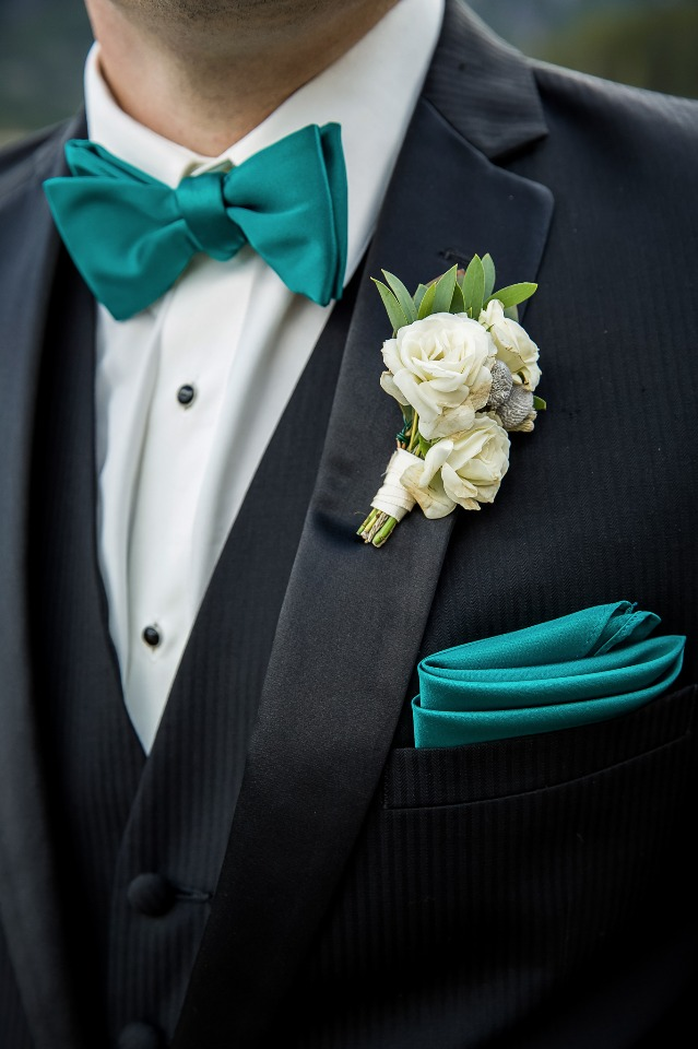 Teal bowtie