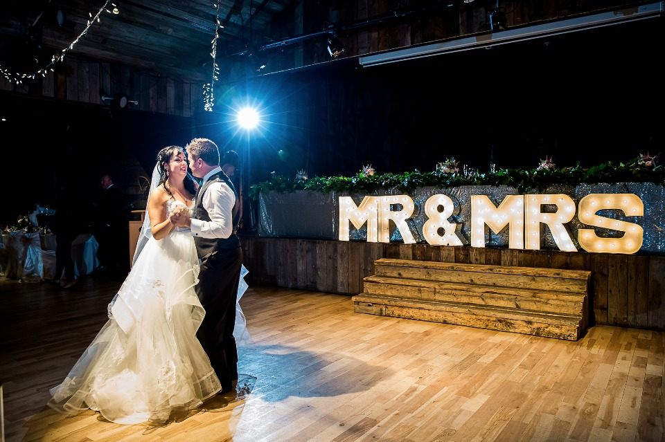 First dance for the Mr and Mrs