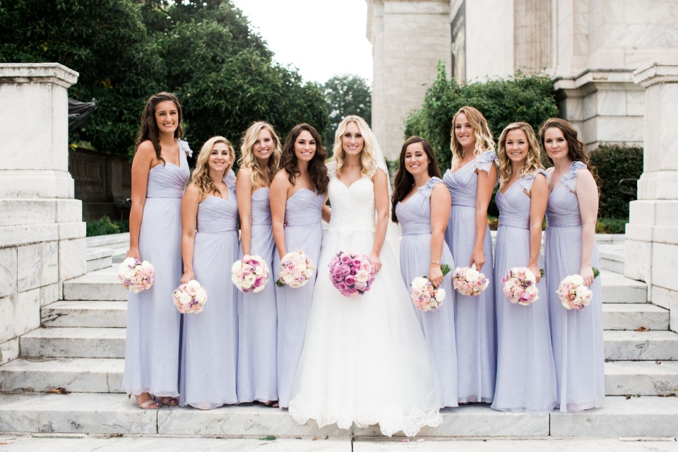 soft purple bridesmaid dresses