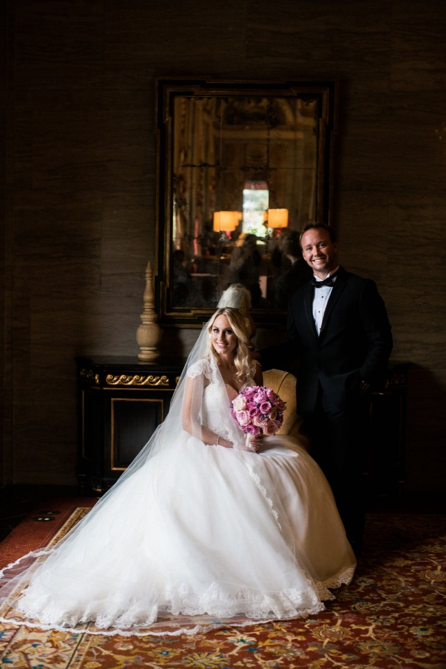 classic bride and groom photo