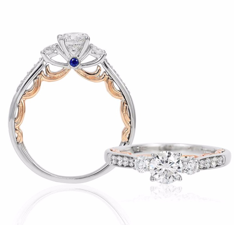 oval daniella ring sapphire gold draper wedding product claw natural blue shop cinderella rings