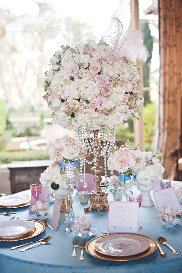 Glamorous themed Cinderella wedding