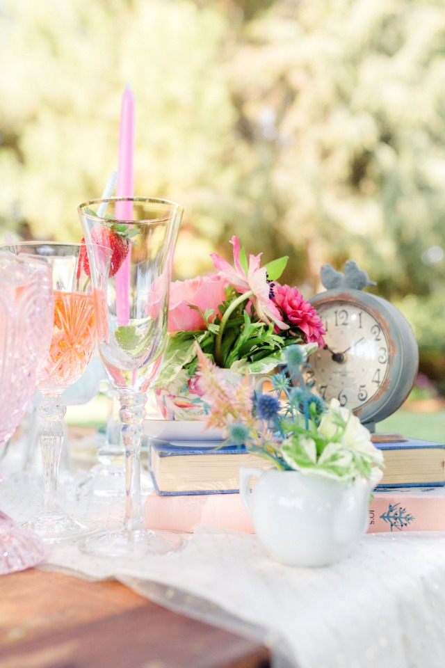 sweet and eclectic table decor
